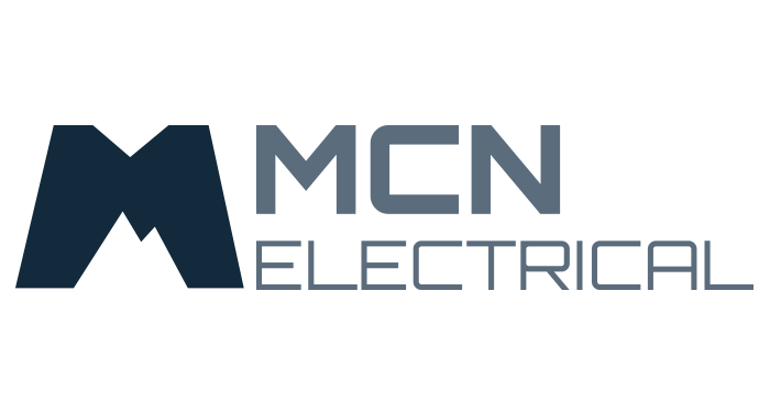 Horizontal Version Of MCN Electrical Logo Business Card Front