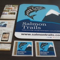 Brochure, Sticker, Sign, Business Card